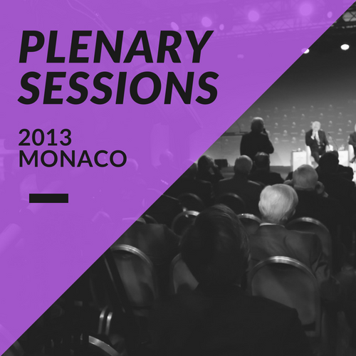 Plenary Sessions 2013